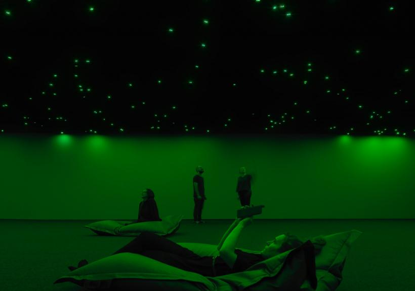 Tatsuo Miyajima: Sky of Time, 2019. Sky of Time exhibition 9.10.2019 - 8.3.2020. EMMA -Espoo Museum of Modern Art. Photo: Ari Karttunen/EMMA.