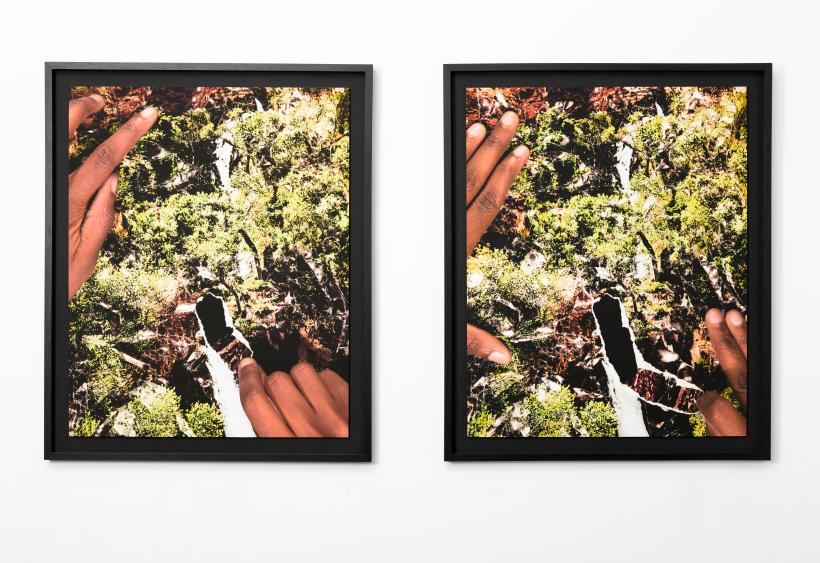 Dionne Lee, Breaking the Fall, 2016, (Diptych), archival inkjet print