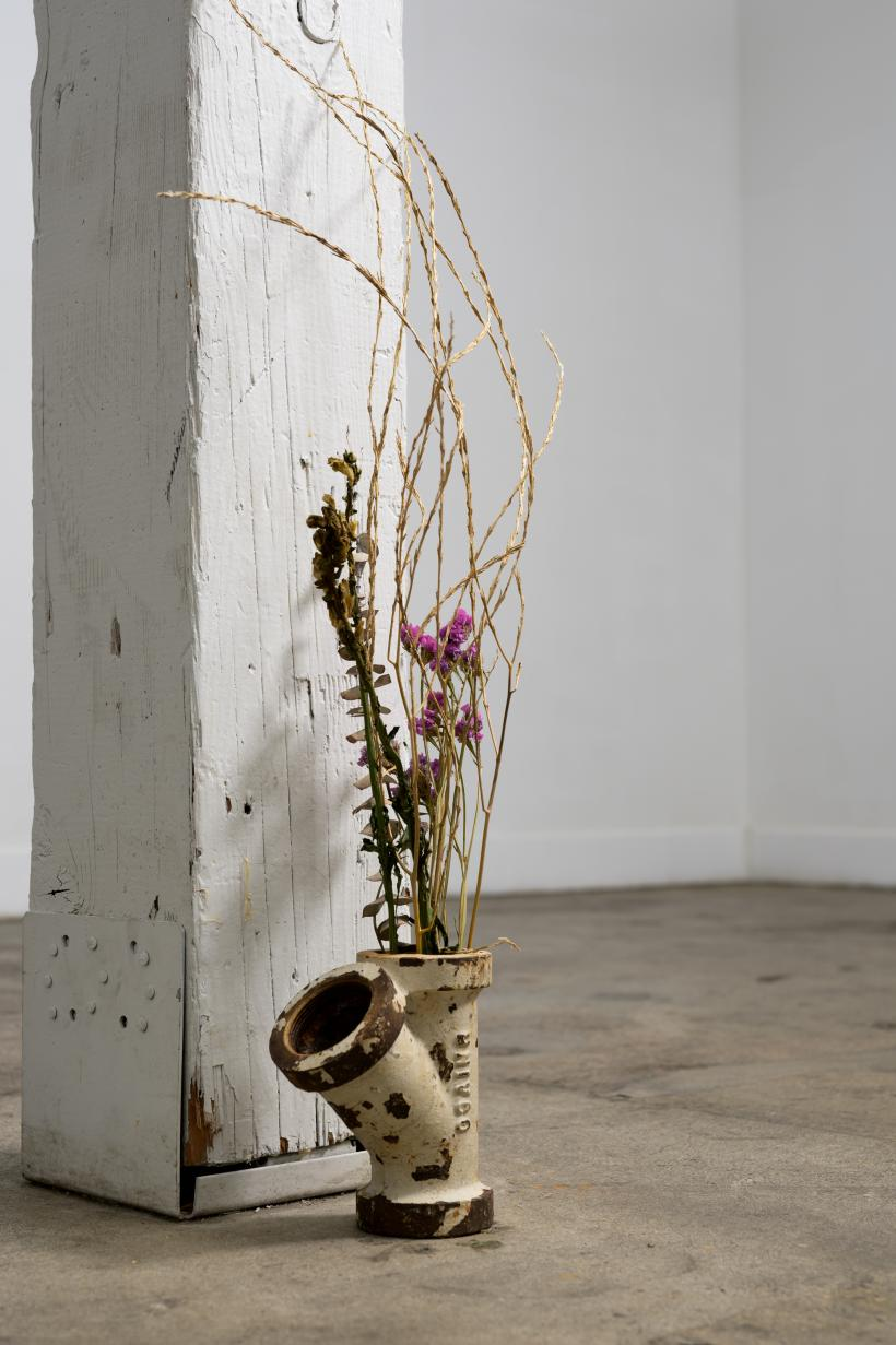 Sofia Cordova, Untitled (Vase), 2019, pipe, dry flowers