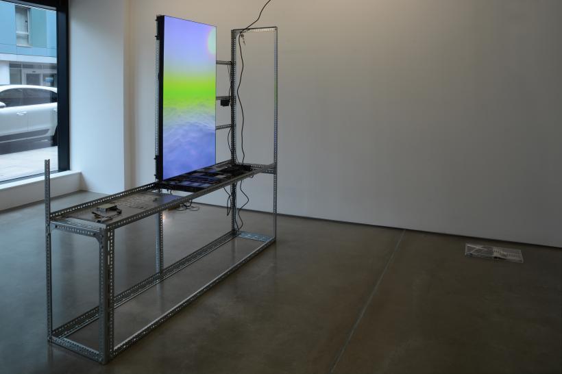Yuri Pattison, installation view, to do, doing, d̶o̶n̶e̶, mother's tankstation London, 2019