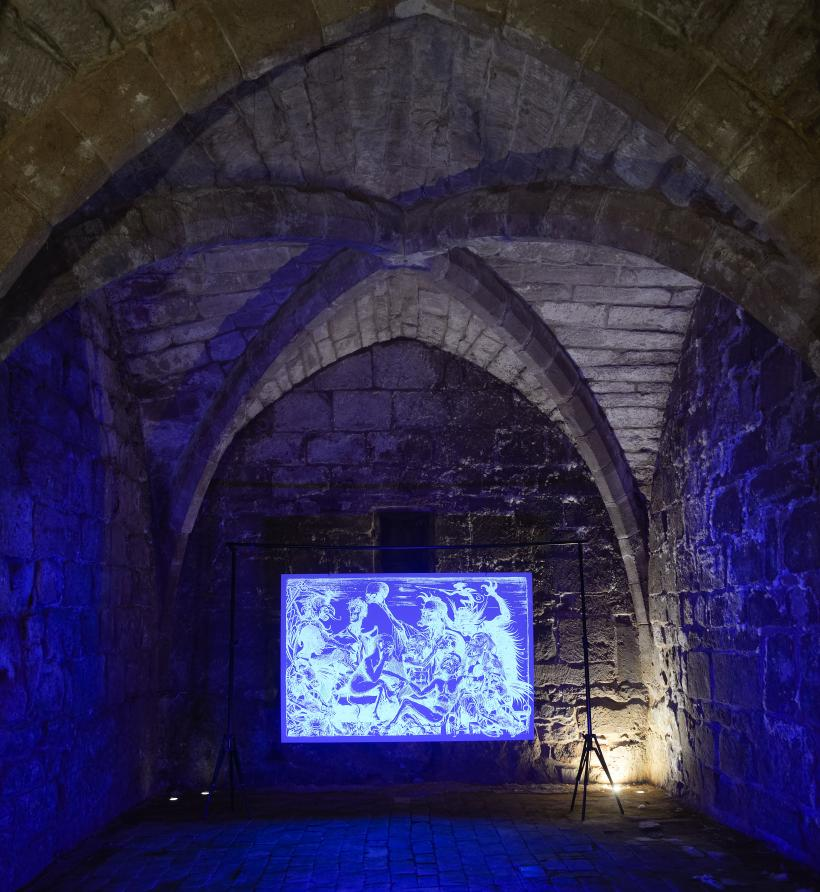 Grace Williams, A Forgetting of Light, installation view in The Undercroft, The Herbert Art Gallery & Museum