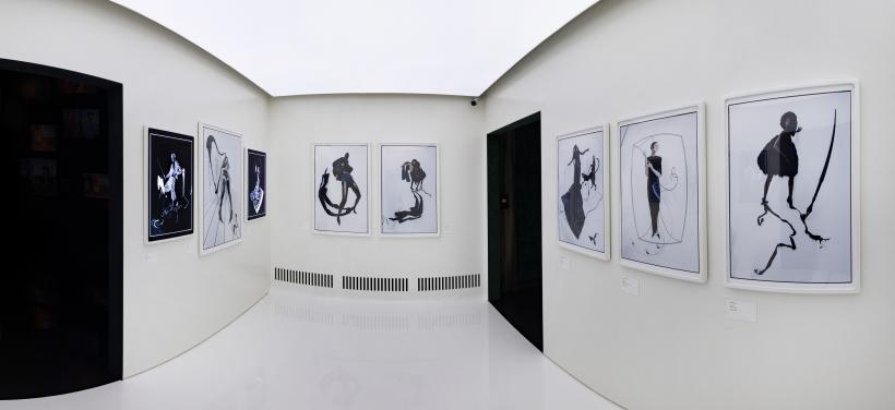 VV&A Tim Walker Wonderful Things Exhibition Installation View - 'Pen & Ink' Section 3