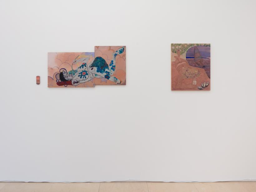 Works by Milly Thompson, installation view, The Sunday Painter