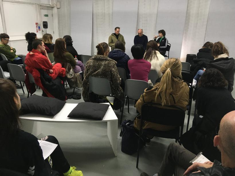 Documentation of Incursions, Departures: 'londonunderlondon' and 'On Vanishing Land' event featuring audio-essay works by Mark Fisher and Justin Barton, and a discussion with Justin Barton, Dalia Neis and Pete Wiseman
