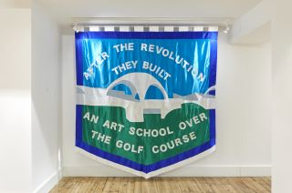 Chris Alton, After the Revolution They Built an Art School Over the Golf Course, 2017, textiles