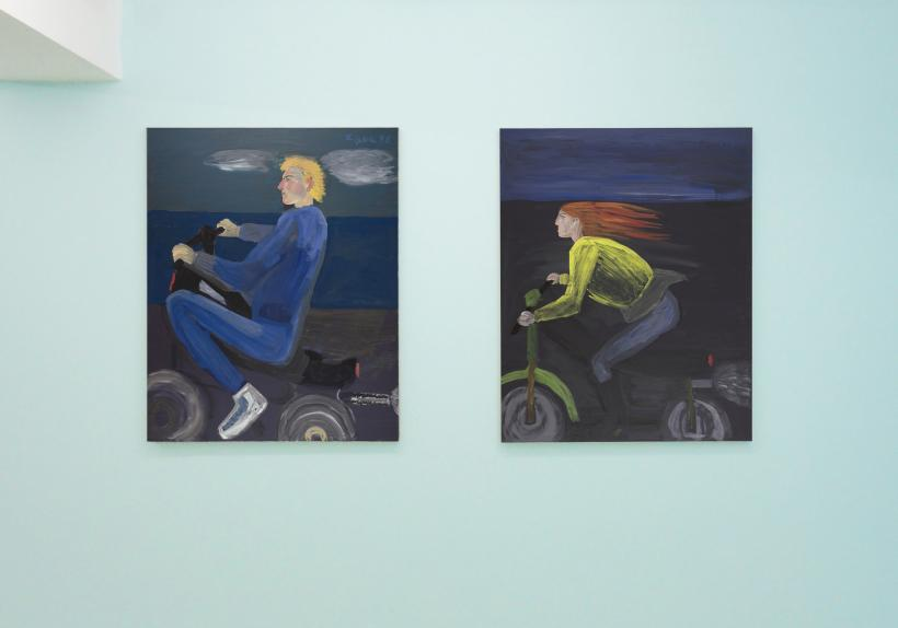 Celia Daskopoulou, Men and Motorcycles, 2020, installation view CAN Christina Androulidaki gallery, Athens