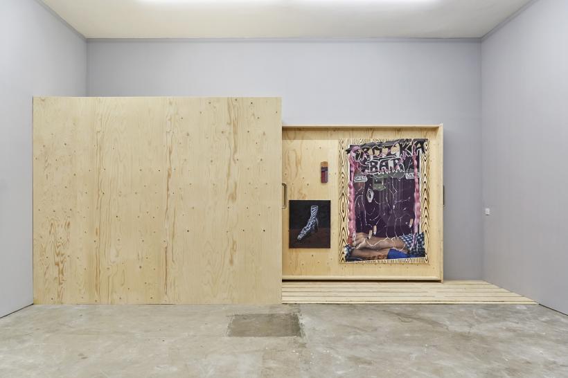 Installation View Rafal Zajko, Jack Burton, Stevie Dix