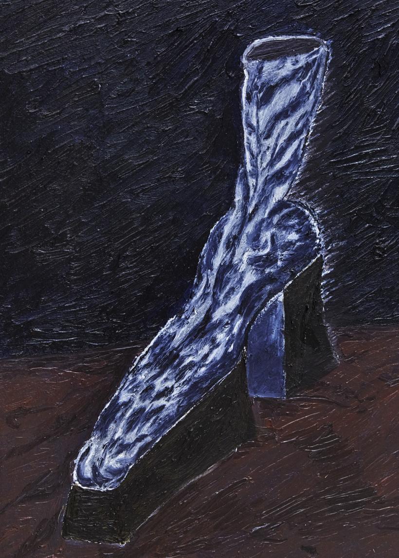 Stevie Dix - On the Eikenlaan Oil on canvas 70 x 60 cm, 2020