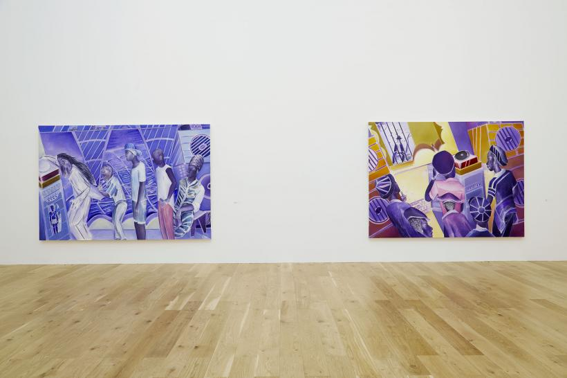 Denzil Forrester: Itchin & Scratchin, 2020. Installation view of Nottingham Contemporary.