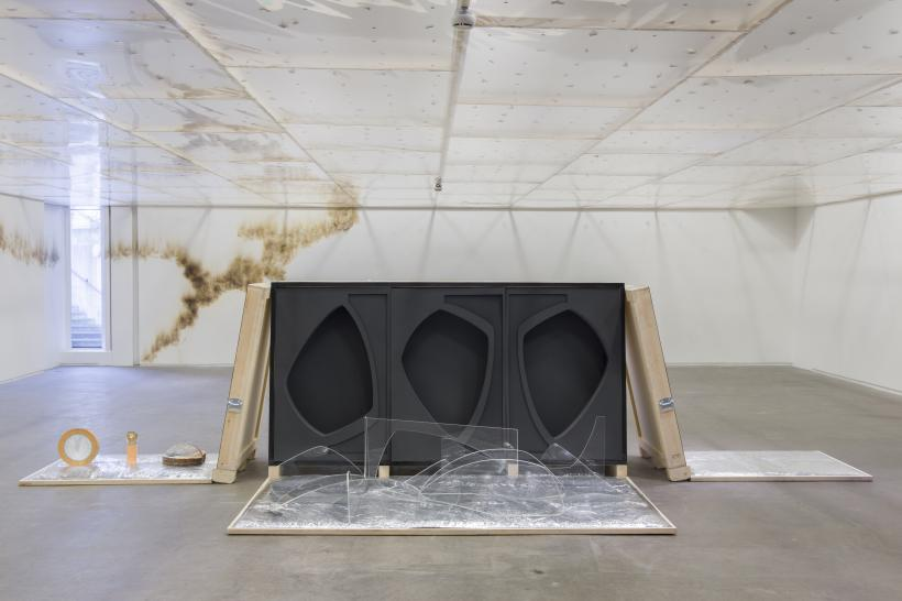 spending static to save gas, 2020, installation view