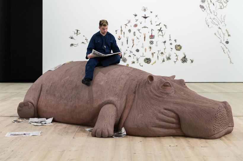 Allora & Calzadilla, Hope Hippo, 2005. Courtesy the artists. Animalesque / Art Across Species and Beings, BALTIC Centre for Contemporary Art 2019.