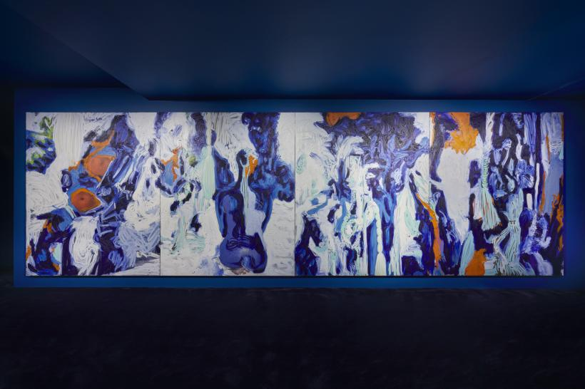 Donna Huanca: Wet Slit, Simon Lee Gallery London,installation view