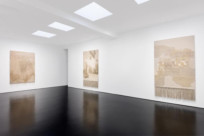 Installation view: Andreas Eriksson, Mapping Memories, Tracing Time, solo exhibition, Stephen Friedman Gallery, London (2020).