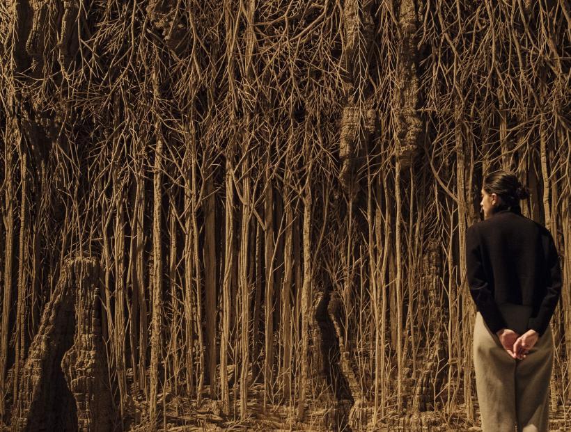 Eva Jospin, Foret Palatine, 2019-2020, at Among the Trees, Hayward Gallery, 2020.
