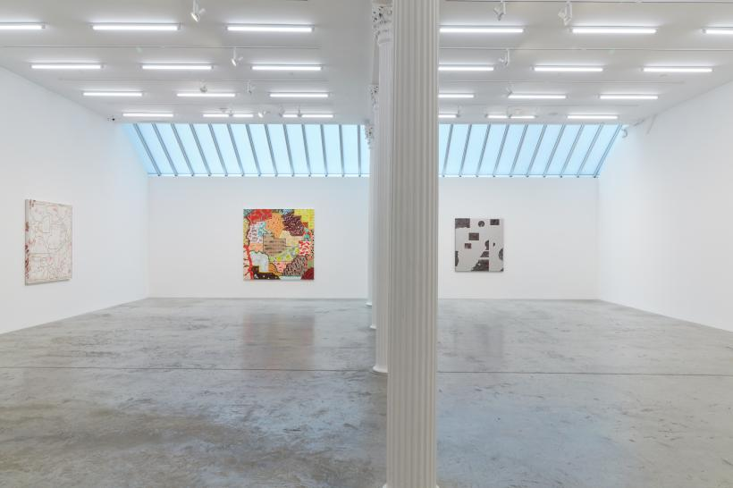 Rebecca Morris, 2020, installation view, Bortolami, New York. Images courtesy the artist and Bortolami, New York. Photography by Kristian Laudrup