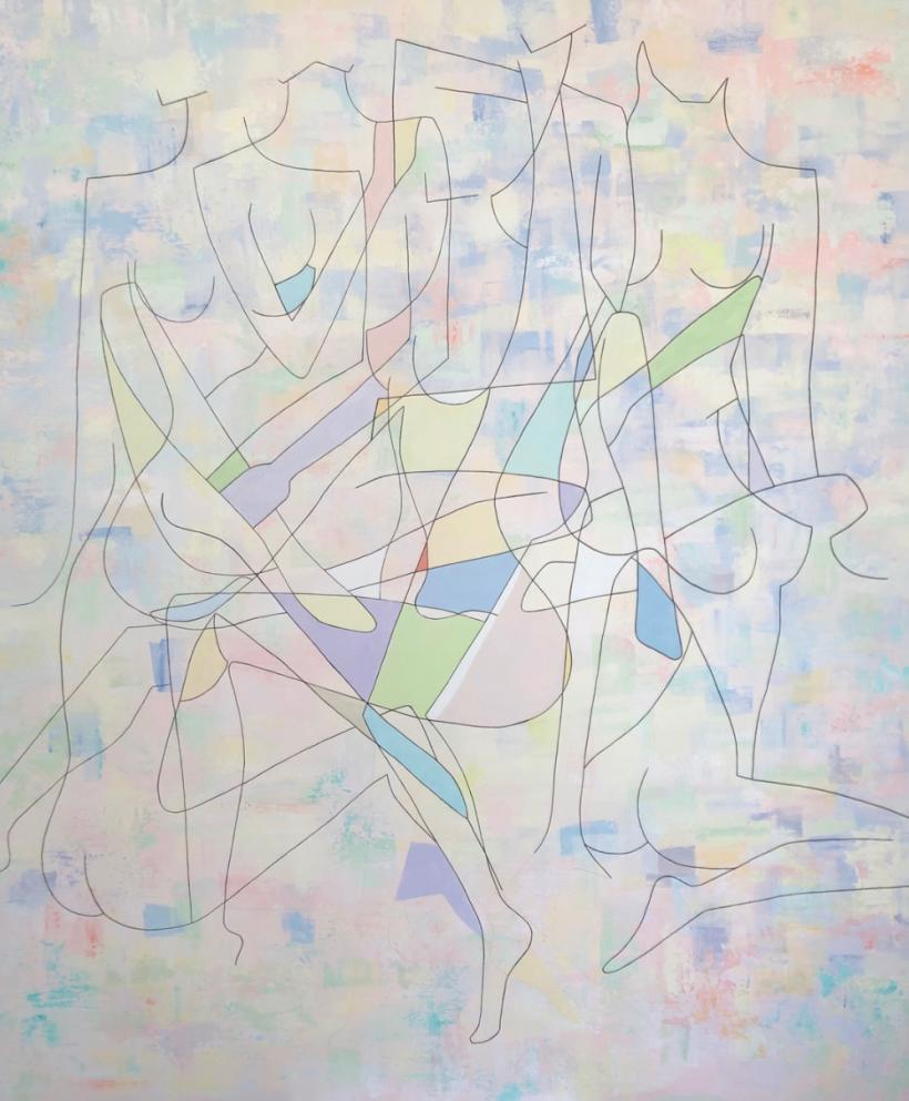 Keelin Montzingo, Saturday, 183 x 153cm, acrylic on canvas, 2019