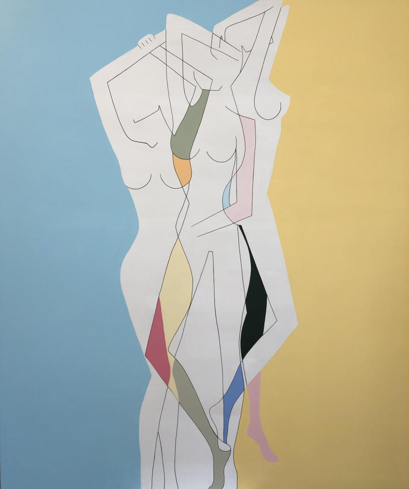 Keelin Montzingo, Sunny Side Up, 183 x 153cm, acrylic on canvas, 2019