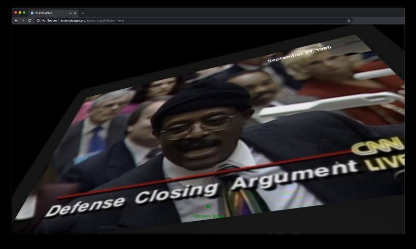 BLACK MEME, video on website, Legacy Russell, External Pages - externalpages.org