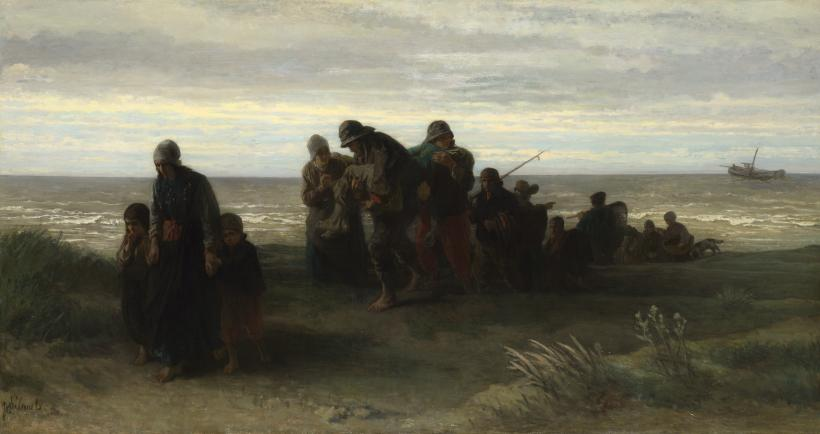 Fishermen Carrying a Drowned Man