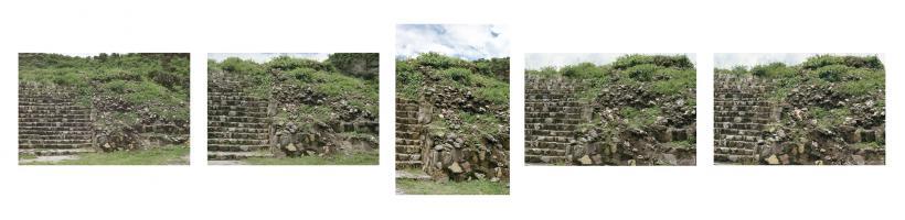 Ana Mendieta, Burial Pyramid, 1974 / 2010. Suite of five colour photographs, 40.7 x 50.8 cm each. Edition of 10