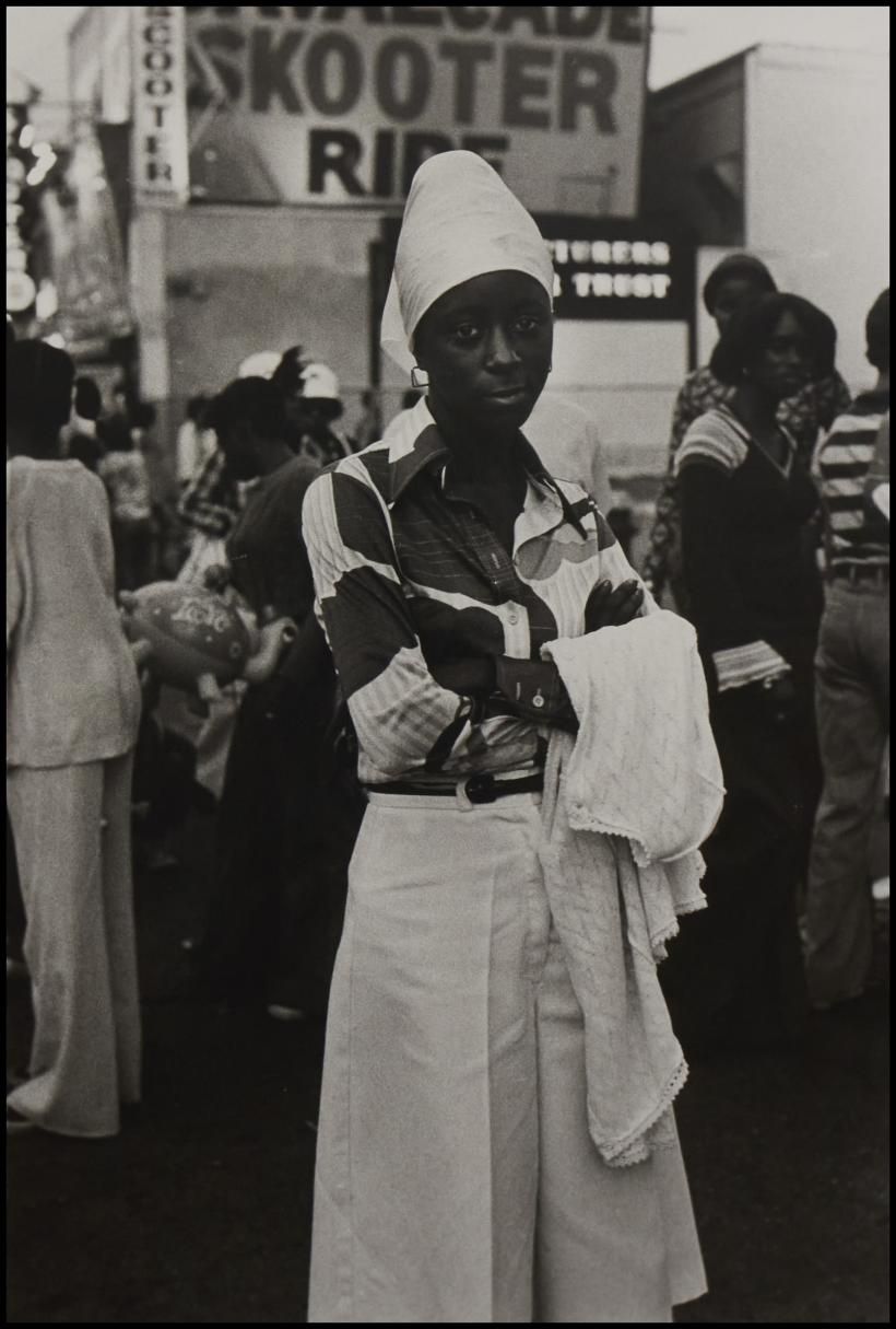 Ming Smith. Beauty, Coney Island, 1976, archival silver gelatin print, 50.8 x 40.6 cm