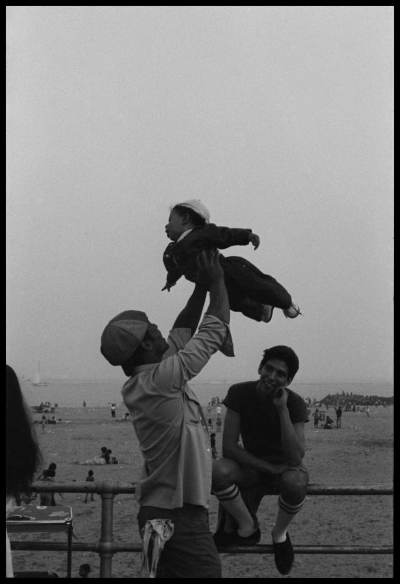 Ming Smith, Flying High, Coney Island, 1976, archival silver gelatin print, 50.8 x 40.6 cm