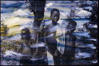 Ming Smith, Trio in Gambela, Ethiopia, (1973/2003), archival pigment print, 40.6 x 50.8 c