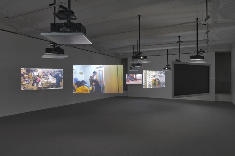 Harun Farocki Installation view, Harun Farocki & Hito Steyerl, Life Captured Still, Galerie Thaddaeus Ropac, London