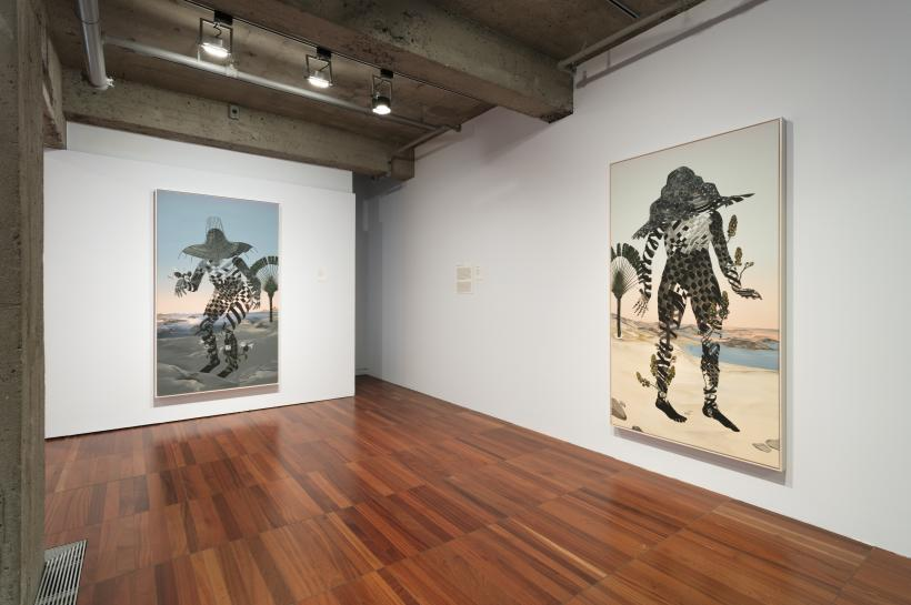 Installation view, RELATIONS: Diaspora and Painting, 2020, PHI Foundation
