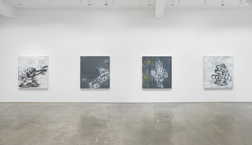 6Screaming into the Ether. Installation view, 2020. Metro Pictures, New York.