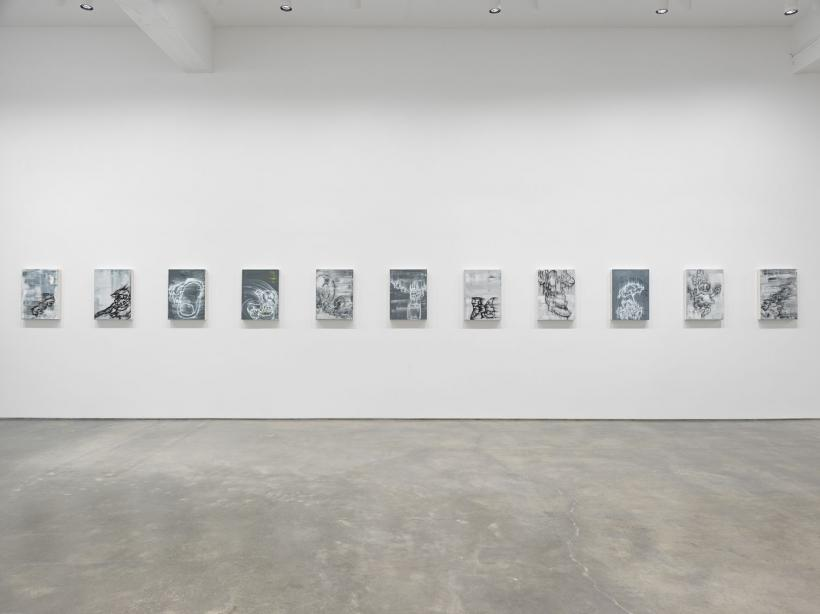 Screaming into the Ether. Installation view, 2020. Metro Pictures, New York.