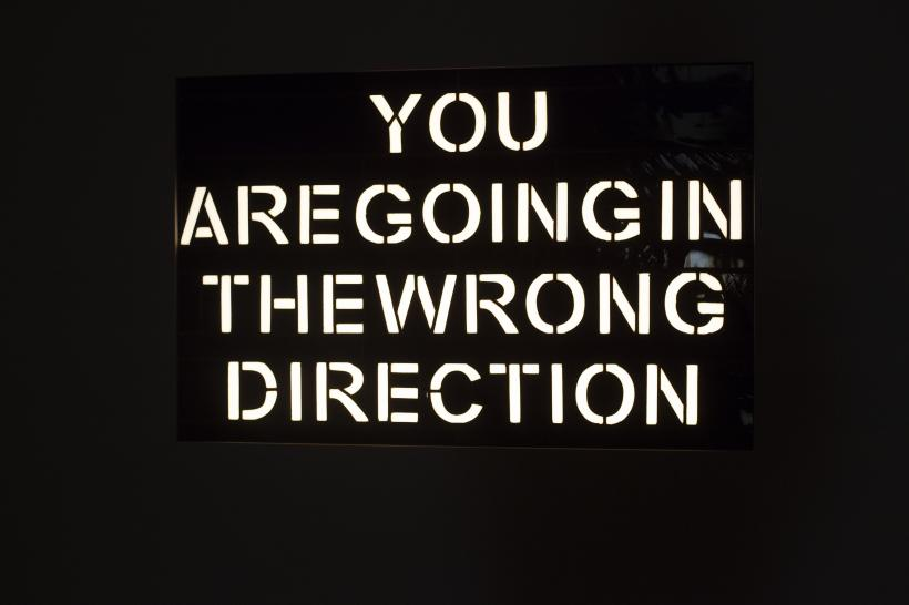 Laure Prouvost, YOU ARE GOING IN THE WRONG DIRECTION, 2020. Courtesy the artist and Galerie Nathalie Obadia (Paris and Brussels)