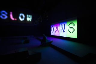 Installation view of Elizabeth Price's SLOW DANS at the Assembly room, London Presented by Artangel Photographer: Zeinab Batchelor