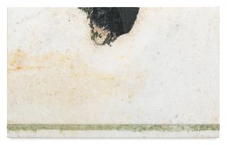 BRICE MARDEN, Helen's Immediately, 2011, Oil on marble, 19 1/2 x 31 1/2 x 13/16 in 49.5 x 80 x 2.1 cm, copyright 2020 Brice Marden/Artists Rights Society (ARS), New York, Photo: Rob McKeever Courtesy Gagosian