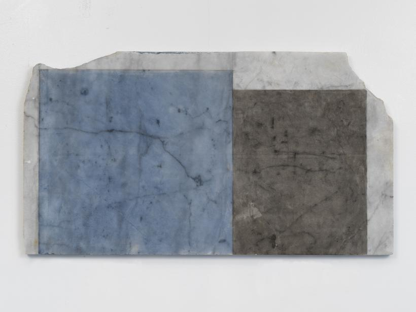 BRICE MARDEN, Years 3, 2011, Oil on marble, 17 3/8 x 31 1/2 x 7/8 in 44.1 x 80 x 2.2 cm, copyright 2020 Brice Marden/Artists Rights Society (ARS), New York, Photo: Rob McKeever Courtesy Gagosian