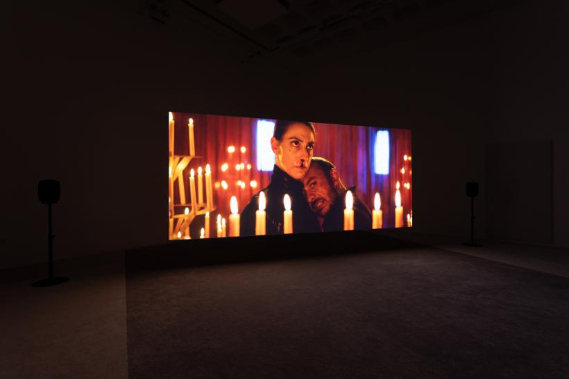 Sophie Cundale, The Near Room, 2020 (film still). Installation view at Bonington Gallery. Photo: Jules Lister. Courtesy the artist and FVU