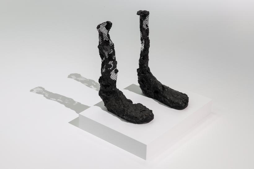 Huma Bhabha Untitled (bronze feet), 2007. Huma Bhabha Against Time, BALTIC Centre for Contemporary Art 2020.
