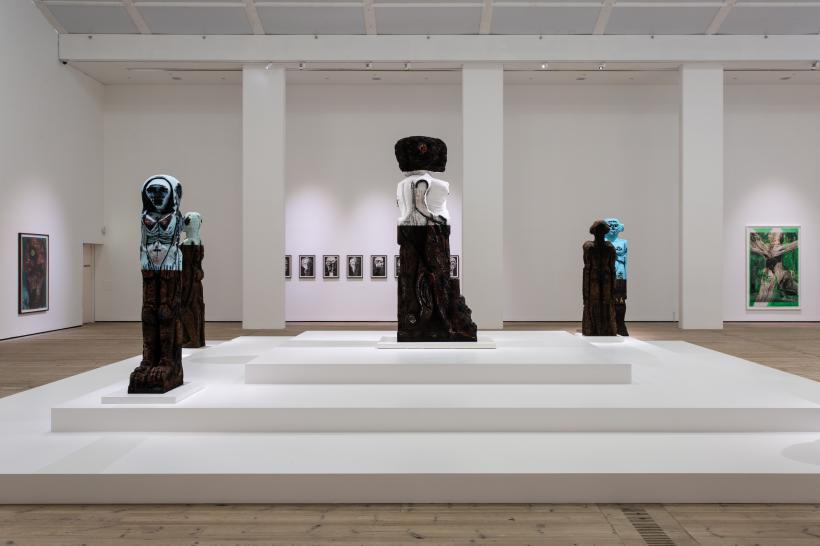 Huma Bhabha Against Time installation view, BALTIC Centre for Contemporary Art 2020.