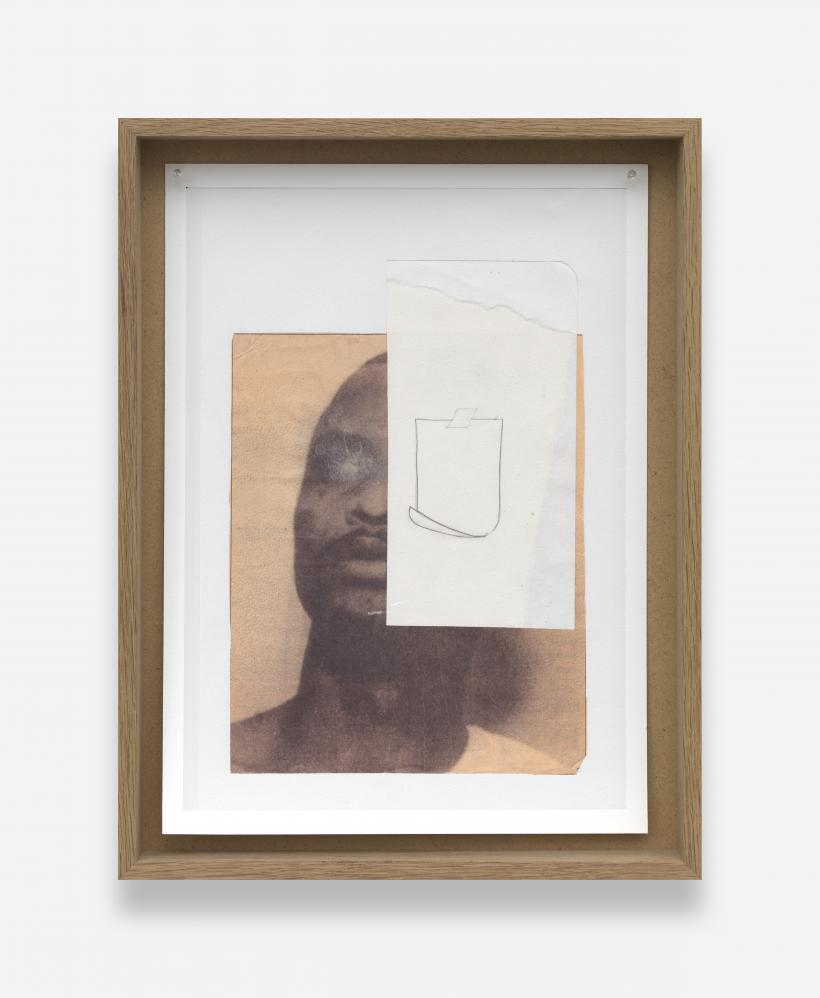 Untitled (visage), 2013. Two archival inkjet prints, oak frame Courtesy of the artist and Tanya Leighton, Berlin.