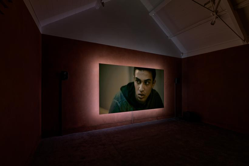 Reman Sadani, Walkout 1, 2020. Commissioned for Jerwood/FVU Awards 2020: Hindsight. Supported by Jerwood Arts and Film and Video Umbrella. Photo: Anna Arca