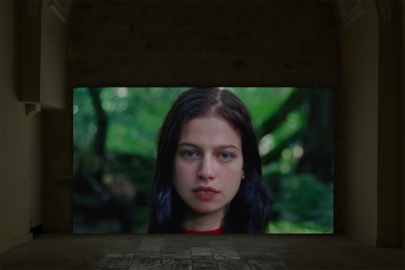 Cecile B. Evans, A Screen Test for an Adaptation of Giselle, 2019; Installation view
