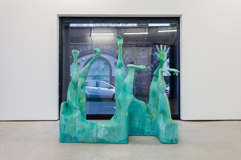 Presently, Installation view, 'Carve a Hole in the rain for yer', The Modern Institute, Osborne Street, Glasgow, 2021