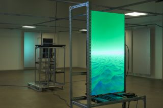 Yuri Pattison the engine (installation view), The Douglas Hyde Gallery, Dublin, 2020-2021