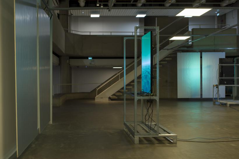 Yuri Pattison the engine (installation view), The Douglas Hyde Gallery, Dublin, 2020-2021