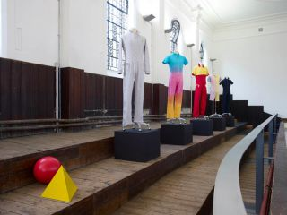 Matthew Darbyshire, Standardised Production Clothing Versions 1 5, 2009, Zabludowicz Collection, The Shape We're In London