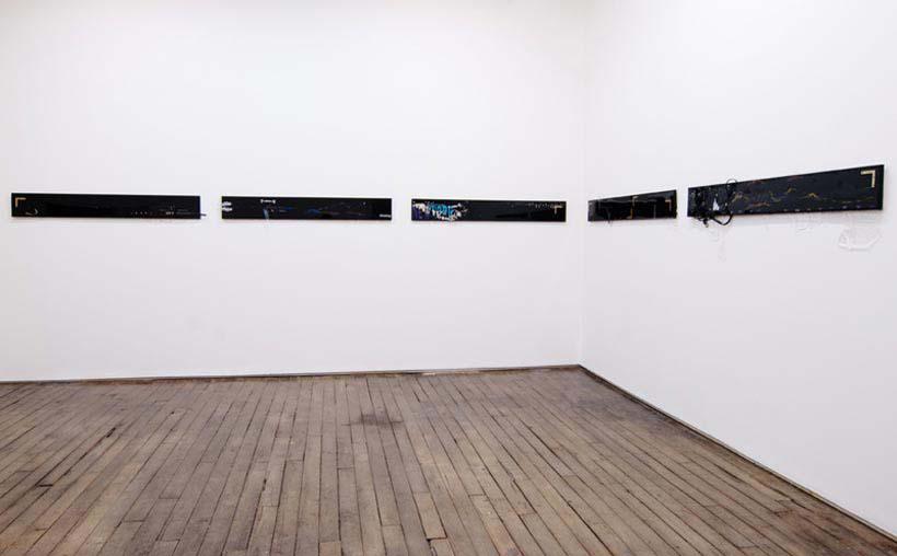 Jutta Koether 2011 Mad Garland Plank Paintings set 3 Campoli Presti