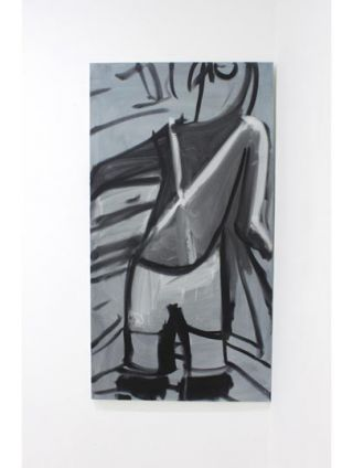 Bather 1, oil on canvas, 75x140cm, 2011